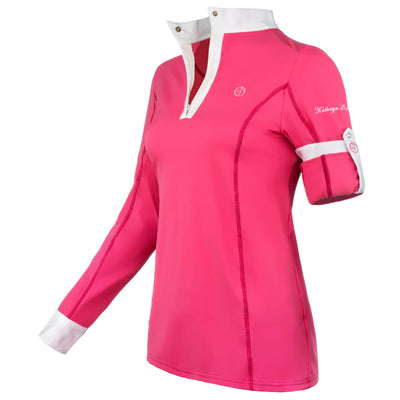pink equestrian show shirt competition long sleeve horse
