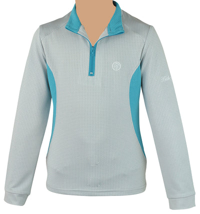 gray mesh teal light weight sun protection pullover sunshirt child adult zip riding equestrian hunter jumper pony