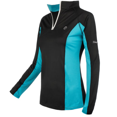 sunshirt black teal riding sunprotection horse equestrian equitation hunter jumper dressage zip long sleeve cool summer