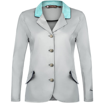 Harrisburg Jacket - Gray with Aqua