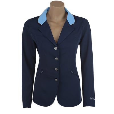navy light blue show coats coat jacket hunter jumper equitation leadline pony ring riding toddler kids child equestrian light weight technical fabric inexpensive favorite