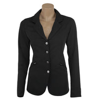 black show jacket show coats equestrian soft shell technical light weight cheap inexpensive classic machine hunter jumper equitation equestrian riding jacket