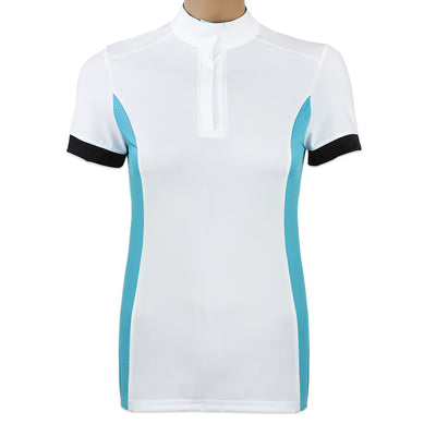 ProAir Polo- White with Teal/Black