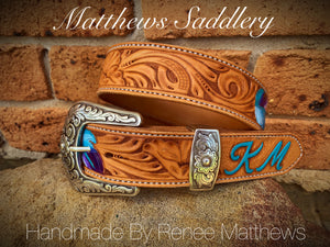 HAND CARVED & PAINTED BELT