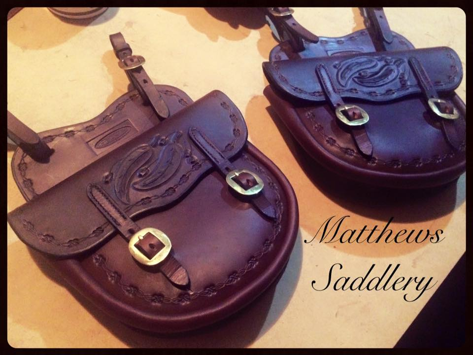 Hand Carved Saddlebags - Gumleaves & Gumnuts