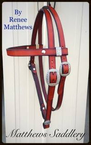 Tan Classic Western Bridle
