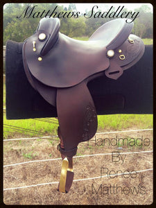 Fender Saddle Dark Brown- Hand Carved Gum Leaves