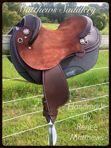 Dark Brown combination smooth out/rough out Fender saddle