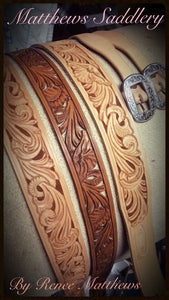 Custom WIDE Style Carved Belts
