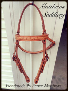 Stock Horse Barcoo Bridle - Tooled Browband