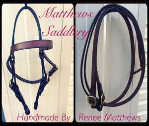 Stock Horse Work Bridle & Reins Set