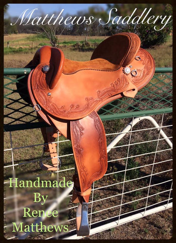 Fender Saddle- Hand Carved Gum Leaves & Gum Nuts