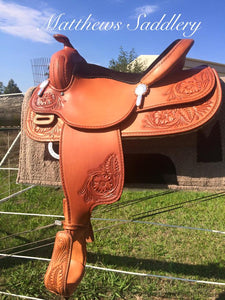 Western Hand Carved Saddle