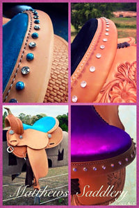 Custom Barrel Racing Saddles