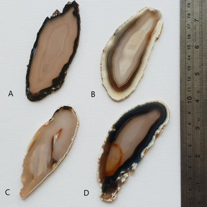 Natural Agate Slices - Large