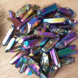 Rainbow Aura Quartz Crystal Points 100gm