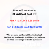 3L - JR ArtCast Resin Kit (Fast)