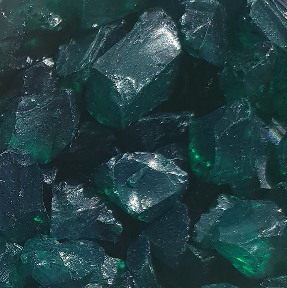 Emerald Glass Fragments 250gm