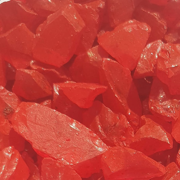 Strawberry Red Glass Fragments 250gm