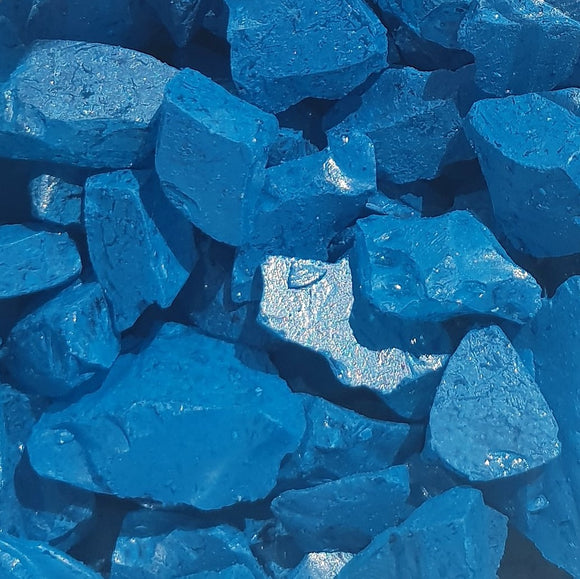 Lake Blue Glass Fragments 250gm