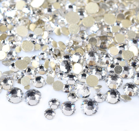 450 pcs 2mm - 6mm Resin clear crystal round Rhinestones Flatback Mix SIZE ~ M1-23 [By Zealer]
