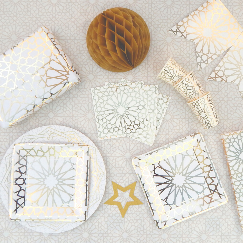Click to see our Geo Glam Collection and matching party accessories!