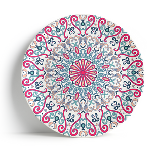"Fez Pink - 16"" Ceramic Serving Plate - Peacock Supplies"