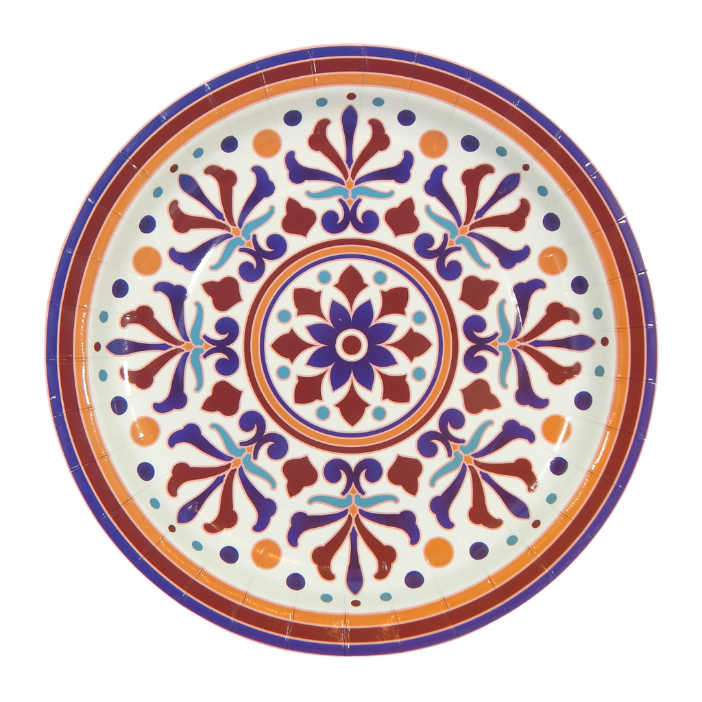 Turkish Party Plates - 10 pack - Peacock Supplies