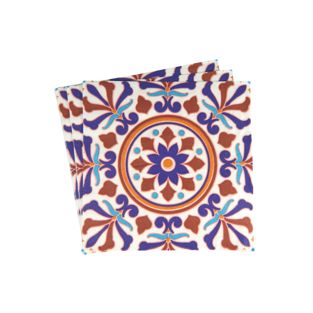Turkish Party Napkins - 20 pack - Peacock Supplies