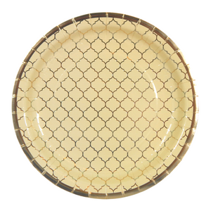 Moroccan Ivory Party Plates - 10 pack - Peacock Supplies