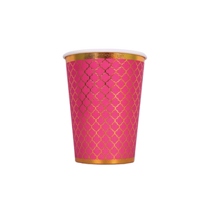 Moroccan Plum Party Cups - 10 pack - Peacock Supplies