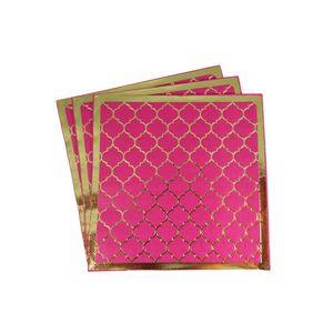 Moroccan Plum Party Napkins - 20 pack - Peacock Supplies