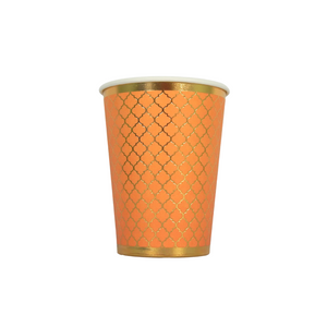 Moroccan Amber Party Cups - 10 pack - Peacock Supplies