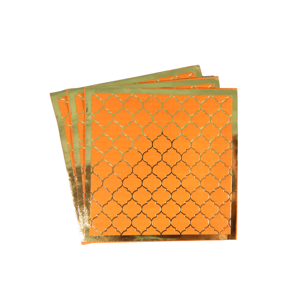 Moroccan Amber Party Napkins - 20 pack - Peacock Supplies