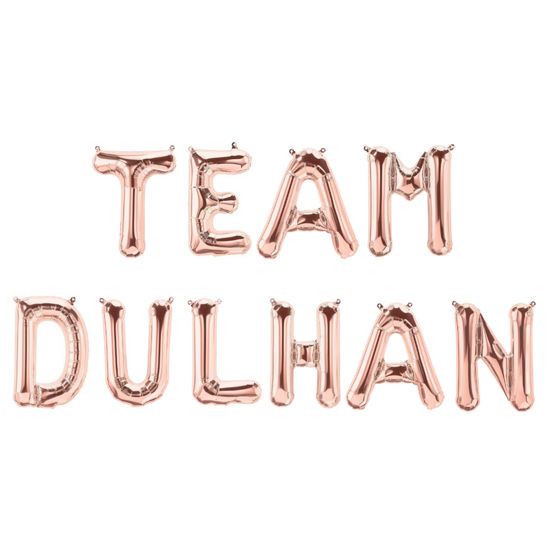 Team Dulhan Foil Balloons - Rose Gold - Peacock Supplies