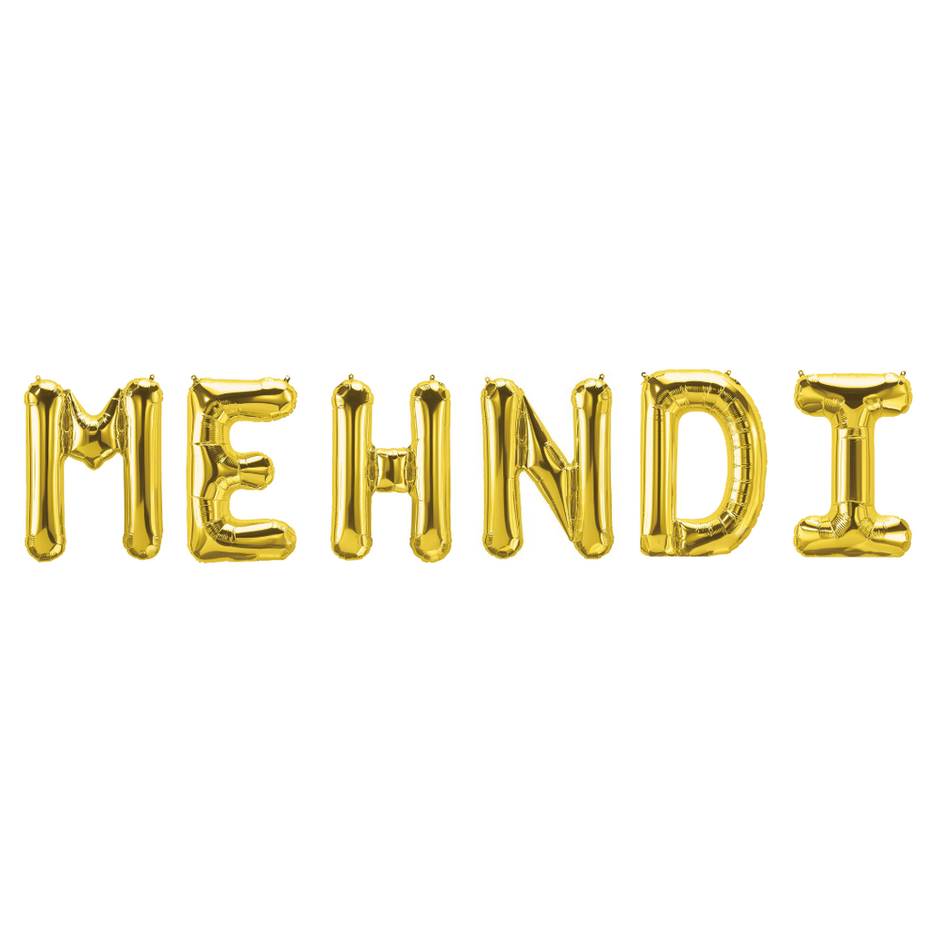 Mehndi Foil Balloons - Gold - Peacock Supplies