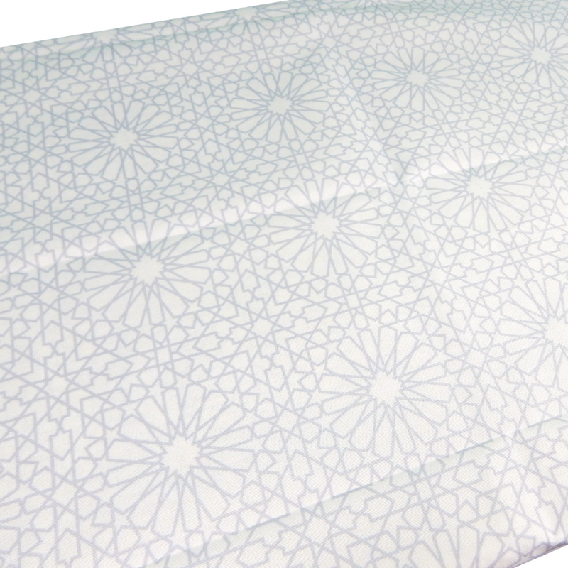 Geometric Table Cover - Grey - Peacock Supplies