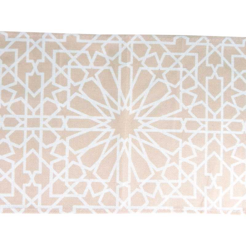 Geometric Table Runner - Cream - Peacock Supplies