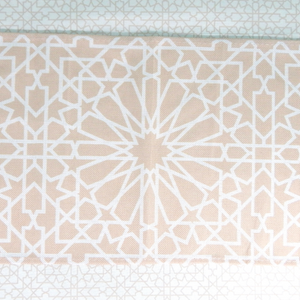 Geometric Table Runner - Cream