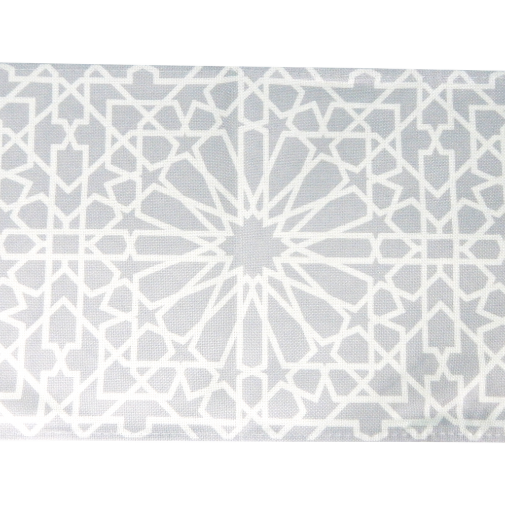 Geometric Table Runner - Grey - Peacock Supplies