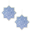 Hanging Star & Chain - 2 pack - Blue & Silver - Peacock Supplies