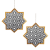 Hanging Star & Chain - 2 pack - Black & Gold - Peacock Supplies