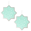 Hanging Star & Chain - 2 pack - Teal & Silver - Peacock Supplies