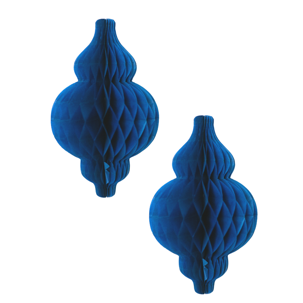 Lantern Honeycomb - 2 pack - Navy - Peacock Supplies