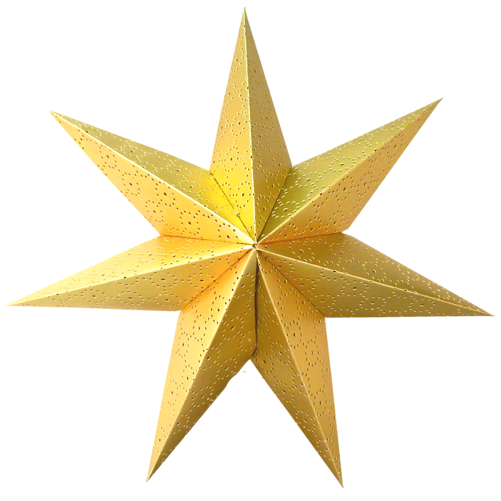 Large Hanging Star - Gold - Peacock Supplies