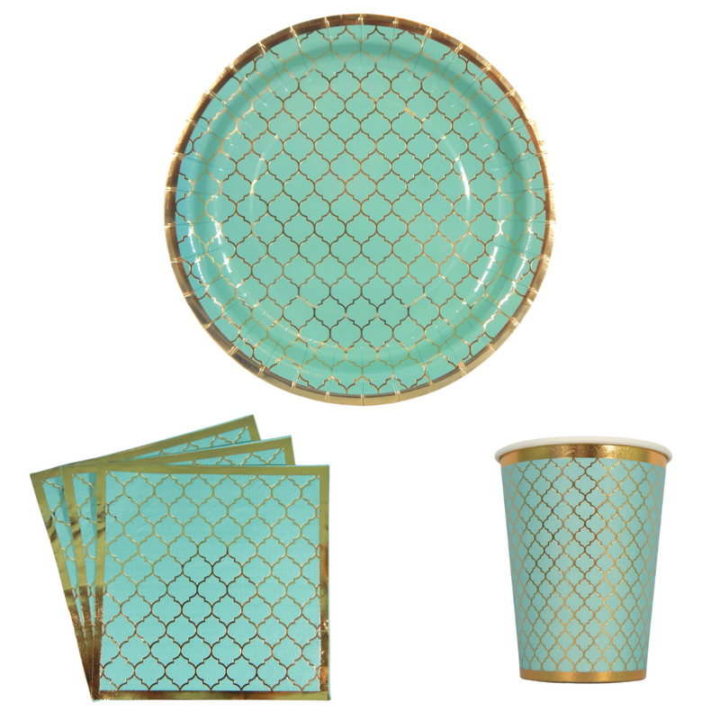 Moroccan Party Pack - Teal - Peacock Supplies