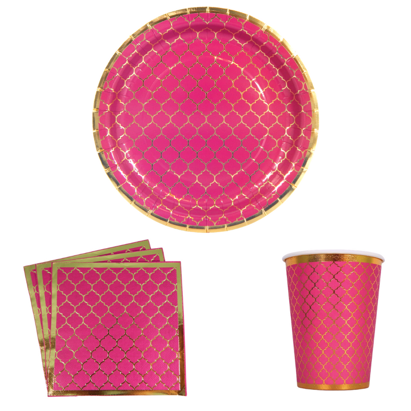 Moroccan Party Pack - Plum - Peacock Supplies