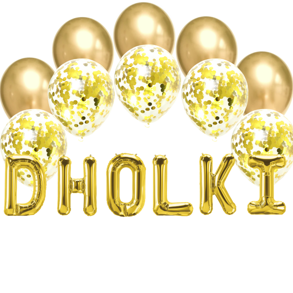 Balloon Bundle - Dholki - Gold - Peacock Supplies