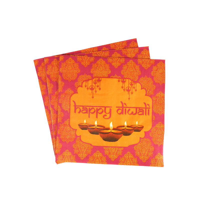 Diwali Pink Party Banner - Peacock Supplies