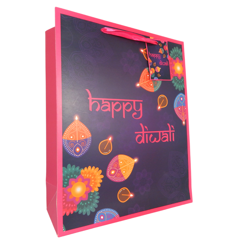 Diwali Purple Gift Bag - Peacock Supplies